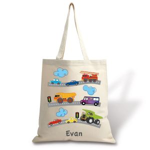 Trucks & Trains Canvas Tote