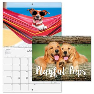 Playful Pups Wall Calendar 2021