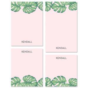 Pink Palms Custom Memo Pad Sets