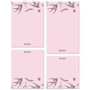 Swallow Pattern Custom Memo Pad Sets
