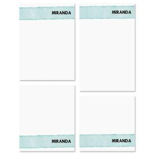Watercolor Wash Custom Memo Pad Sets