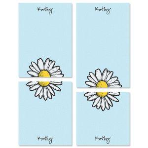 Textile Daisy Custom Memo Pad Sets