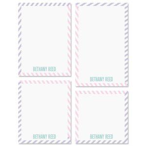 Pastel Lines Custom Memo Pad Sets