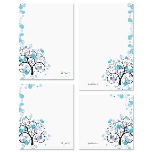 Watercolor Tree Custom Memo Pad Sets