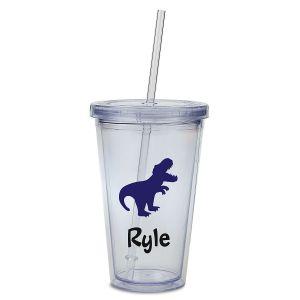 Custom T-Rex Acrylic Beverage Cup