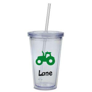 Custom Tractor Acrylic Beverage Cup
