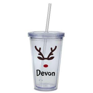 Custom Reindeer Acrylic Beverage Cup