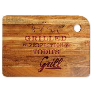 Grilled to Perfection Custom Wood Cutting Board