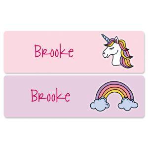 Custom Unicorn Name Stickers