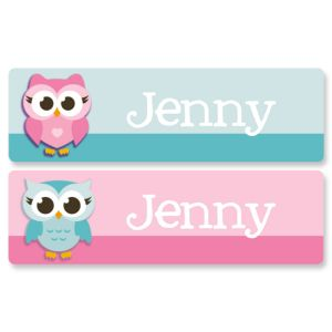 Custom Little Owls Name Stickers