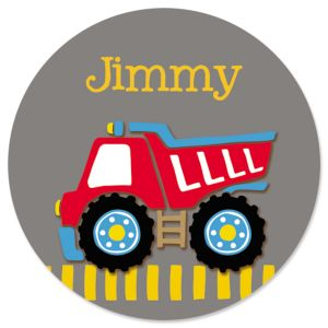 Custom Red Dump Truck Stickers