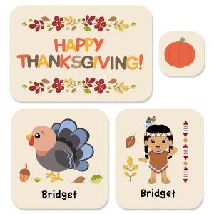 Custom Thanksgiving Stickers