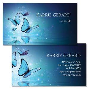 Blue Butterfly Double-Sided Business Card