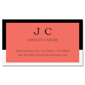 Contemporary Coral Standard Business Card
