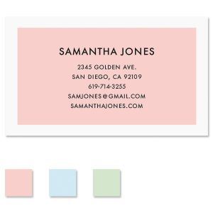 Minimal Lux Standard Business Card with color options