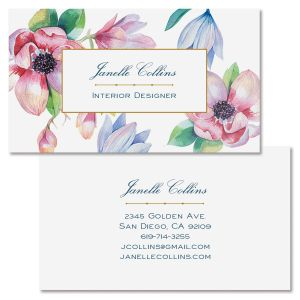 Magnolia Double Sided Business Card