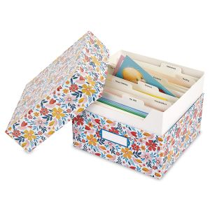Blossom Top Greeting Card Organizer Box and Labels