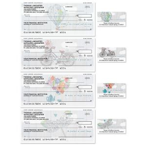 Fly Away Single Checks With Matching Address Labels
