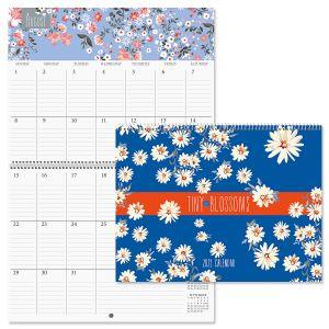 Tiny Blossoms Big Grid Planning Calendar 2021