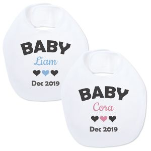 Personalized Announcement Baby Bib