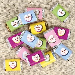30 Valentine Mini Candy Bar Wrappers - BOGO