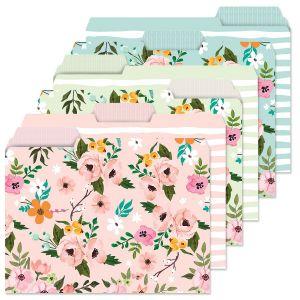 Spring Florals File Folders Value Pack