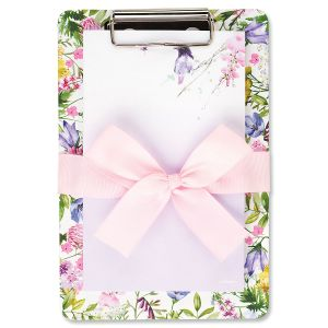 Wild Flowers Memo Pad with Clipboard