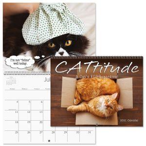 CATtitude Wall Calendar 2021