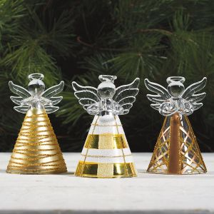 Gold & Glitter Glass Angels