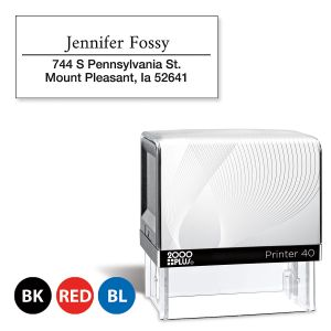 Custom Accent Line Self-Inking Address Stamp