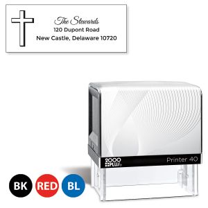 Custom Simple Cross Self-Inking Address Stamp