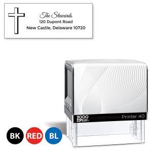 Custom Simple Cross Self-Inking Address Stamp