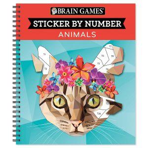 Brain Games® Sticker by Number Animals