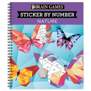 Brain Games® Sticker by Number Nature Book