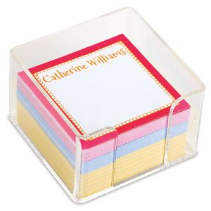 Bright Borders Custom Note Sheets in a Cube