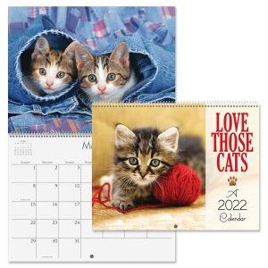 Love Those Cats 2022 Wall Calendar