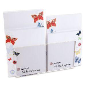 Delicate Butterflies Custom Memo Pad Set