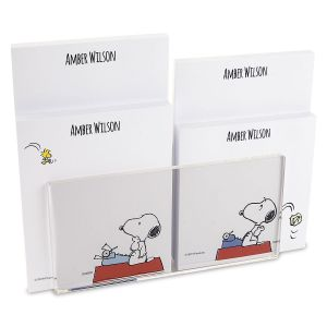 Snoopy's Typewriter Custom Memo Pad Set