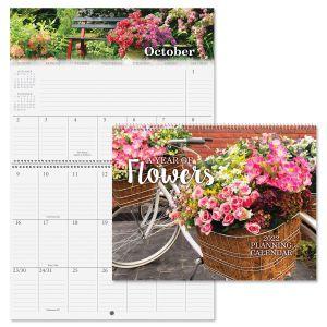 A Year of Flowers 2022 Big Grid Calendar