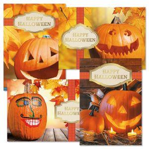 Photo Ribbon Tag Halloween Cards