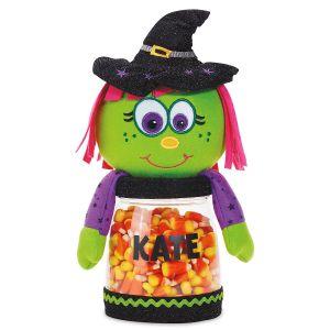 Personalized Halloween Witch Treat Jar