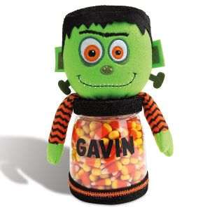 Custom Halloween Frankenstein Treat Jar