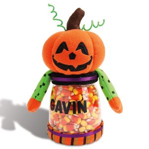 Custom Halloween Jack-o-Lantern Treat Jar