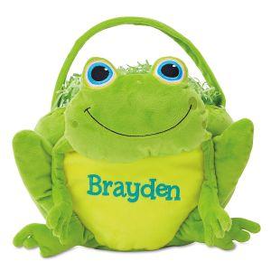 Custom Frog Easter Basket