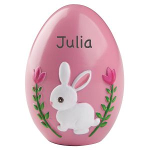 Personalized Pink Resin Easter Egg