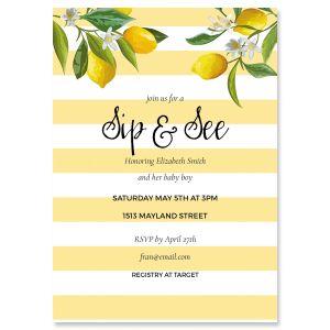 Custom Life and Lemons Shower Invitation
