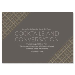 Custom Brilliant Triangle Scallop Invitations