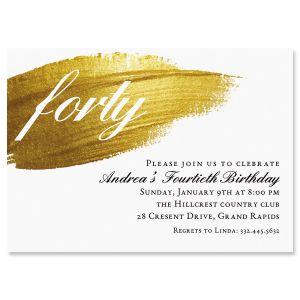 Custom Brushed Elegance Milestone Invitation