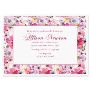 Custom Bountiful Floral Invitations
