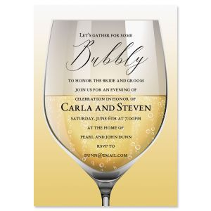 Custom Glass of Bubbly Invitations